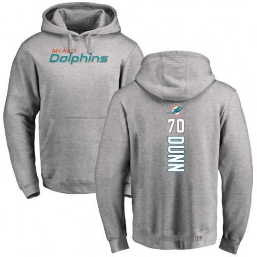 Youth Michael Dunn Miami Dolphins Pro Line Ash Backer Pullover Hoodie